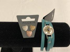 Pilgrim Bracelet turquoise cuir