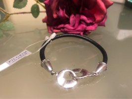 Pilgrim Leather Bracelet black-silver-colored