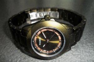 Pilgrim Uhr, Metallarmaband, Faltschließe, olivgrün/roségold, NEU