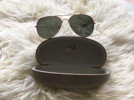 Pilotenbril goud-donkergroen