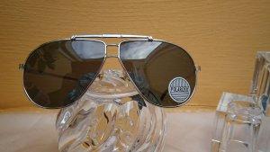 Okulary pilotki srebrny-antracyt