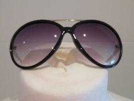 Pilotenbrille Sonnenbrille schwarz gold Verlaufsglaeser