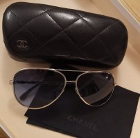 Chanel Aviator Glasses silver-colored-dark blue