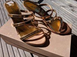 piluso wunderschöne Sandaletten echtleder Neupreis 89,90 gold Größe 36