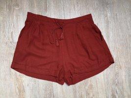 Pimkie M Hose Shorts High waist Terracotta orange