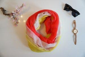 Pink gelbes Schlauchtuch dreifarbig