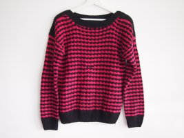 Pink-schwarzer Pullover