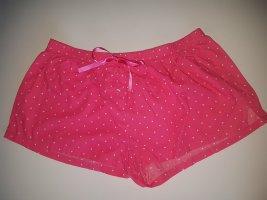 Pinke Manguun Schlafanzughose mit weißen Punkten