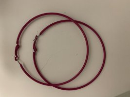 Créoles rouge framboise-rose