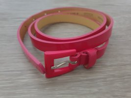 H&M Faux Leather Belt pink