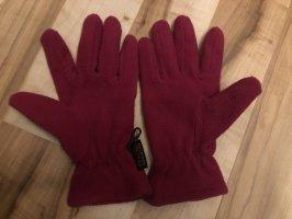 Guantes con dedos rosa