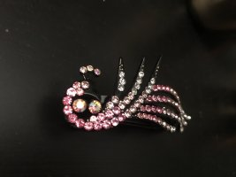 Hair Clip multicolored metal