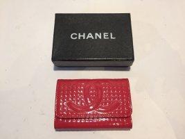 Chanel Etui na klucze magenta Skóra