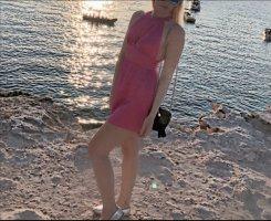 Pinkes highneck Kleid von Zara