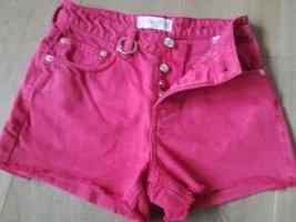 Mango Denim Shorts raspberry-red-magenta