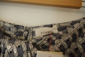 Pinko Glamour Rock Mini silber grau Seide Pailletten NEU mit Etikett