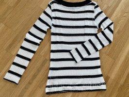 Pinko Cienki sweter z dzianiny czarny-biały