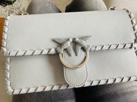 Pinko Tasche Love Classic twist bag grau Leder neu