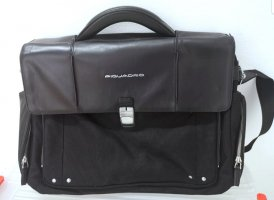 Piquadro Laptop bag black leather