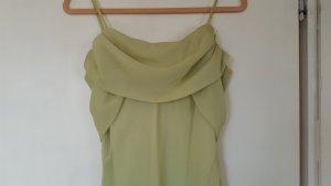 Pistazienfarbenes Abendkleid