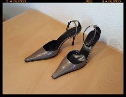 PITTI ORO High Heels Pumps Damenschuhe Gr. 41 - 9,5 cm Absätze beige