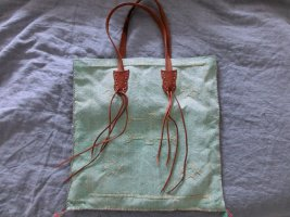 Place du Soleil Tasche Sommertasche mint Lederhenkel neu