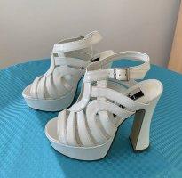 Sandalias con plataforma blanco