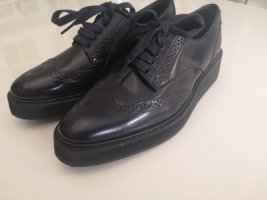 Massimo Dutti Wingtip Shoes dark blue
