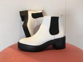 Plateau Chelsea Boots Weiß schwarz ankle Boots Stiefeletten Blogger Zara pull & bear 38