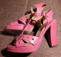 Plateau High heels  Sandalen Leder