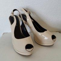 Belle Women Peep Toe Pumps nude imitation leather