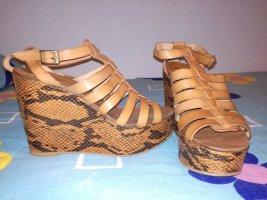 Plateau Sandalen aus Leder Gr.37 Mango