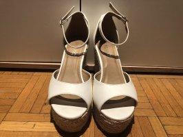 Platform Sandals white imitation leather