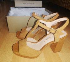 Plateau-Sandaletten aus echtem Leder von Bruno Premi