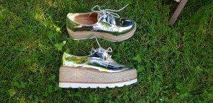 Plateau Schuhe Silber 37