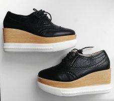 Plateau Wedges Sneaker Budapester Style Gr. 37 Neu