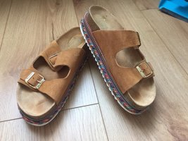 Plateausandalette im Hippie-Look, Birkenstock-Style, 41