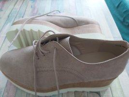 Catwalk Sznurowane buty stary róż