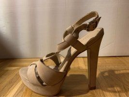 Hallhuber Platform High-Heeled Sandal cream