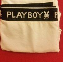Playboy Pantalone pigiama bianco Tessuto misto