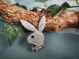 Playboy Schlüssel/Taschenanhänger, Silber