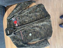 Please Camouflage Hemd Jacke Größe M