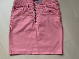Please Rock rosarot Jeans-Stoff Large