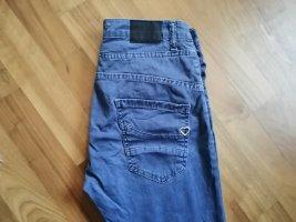 Please Pantalon cinq poches bleu acier coton