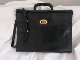 Plinio Visona Briefcase black-dark blue leather
