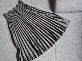 H&M Pleated Skirt green grey-khaki