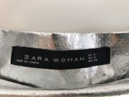 Zara Pleated Skirt silver-colored