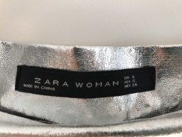 Zara Gonna pieghettata argento
