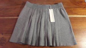 Stefanel Falda plisada gris claro Algodón