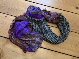 Plomo o plata Bufanda de seda multicolor Seda